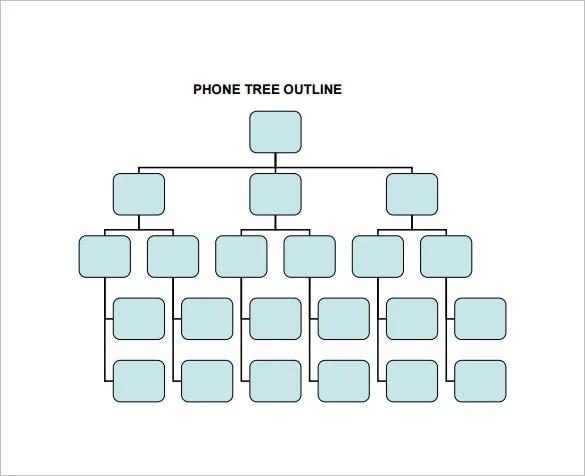 12 Printable Phone Tree Templates Doc Excel Pdf
