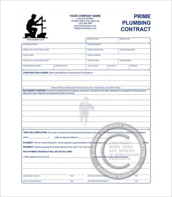 Construction Agreement Form Best Construction Contract Template Pdf