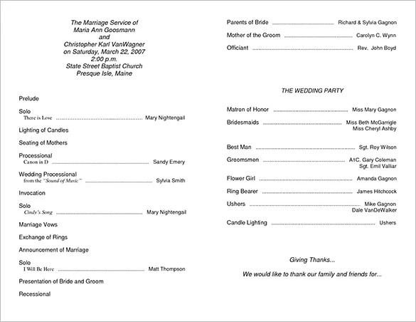 Wedding Program Template Floral Bohemian Wedding Program Template - wedding agenda sample