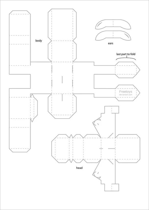 11+ Paper Craft Templates  PSD Designs! Free  Premium Templates