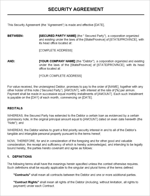 11+ Security Contract Templates u2013 Free Word, PDF Format Download - proposal contract template