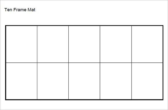 6+ Ten Frame Templates - DOC, PDF Free  Premium Templates - ten frame template