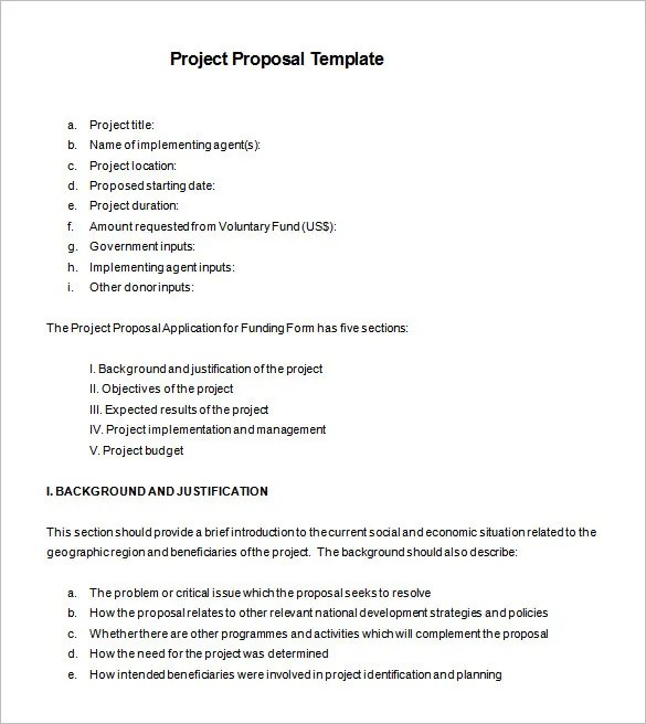 Proposal Templates u2013 140+ Free Word, PDF, Format Download! Free - policy proposal template