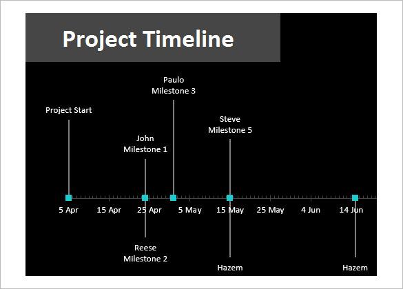 11+ Project Timeline Templates Free  Premium Templates