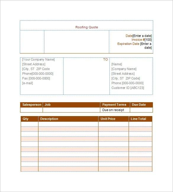 12+ Roofing Estimate Templates - PDF, DOC Free  Premium Templates