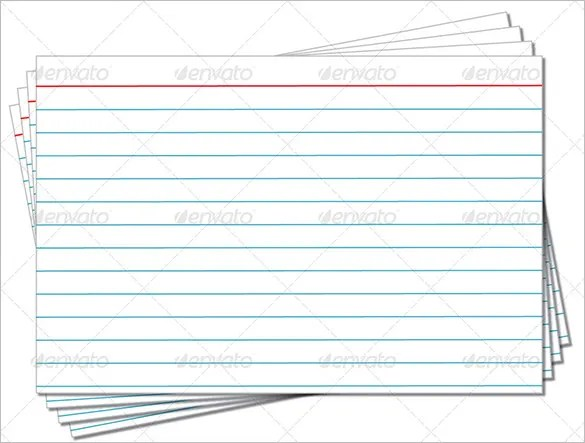 Index Card Template \u2013 6+ Free Printable Word, PDF, PSD, EPS Format