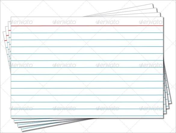 Index Card Template \u2013 6+ Free Printable Word, PDF, PSD, EPS Format