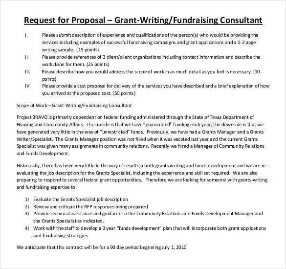 Grant Proposal Template - 33+ Free Word, Excel, PDF, PPT Format - fundraising proposal template