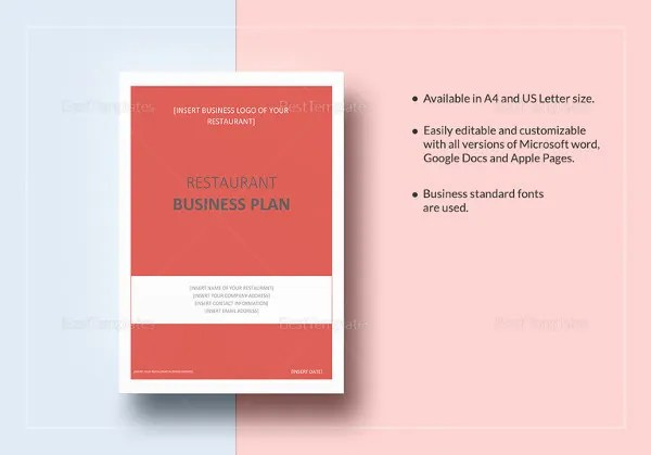 Restaurant Business Plan Template \u2013 14+ Free Word, Excel, PDF Format