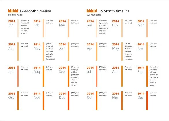 8+ Calendar Timeline Templates \u2013 Free Sample, Example, Format - sample power point calendar