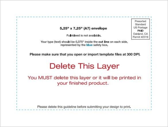 9+ A7 Envelope Templates - DOC, PSD, PDF Free  Premium Templates