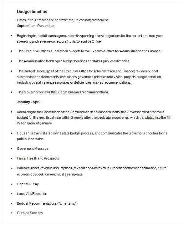 4+ Budget Timeline Templates - DOC, Excel, PDF Free  Premium