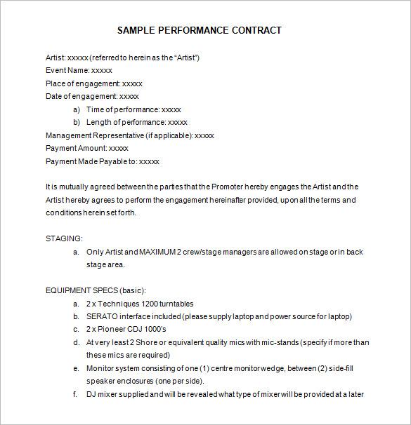 14+ Performance Contract Templates - Word, PDF, Google Docs
