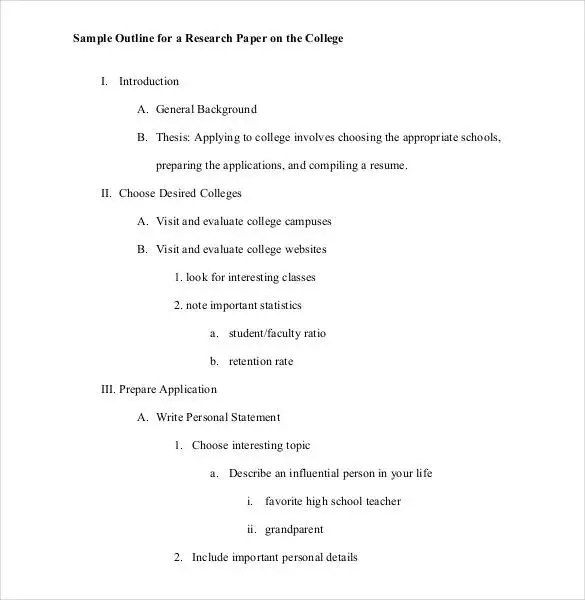 writing an essay outline template outline of essay example