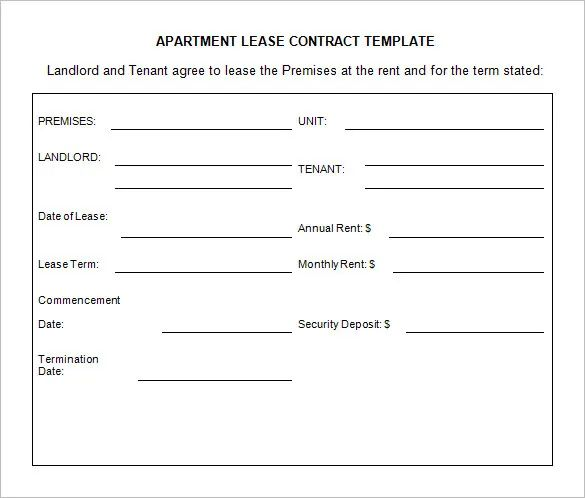 auto lease template