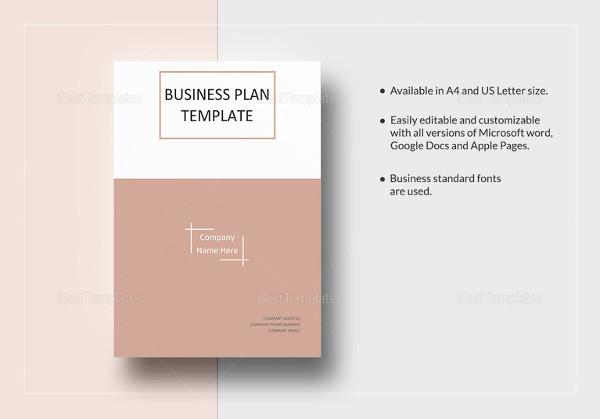 Simple Business Plan Template \u2013 14+ Free Word, Excel, PDF Format