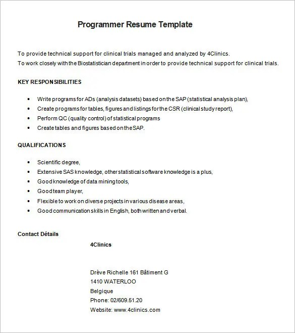 programmer resume example wonderful java developer resume sample