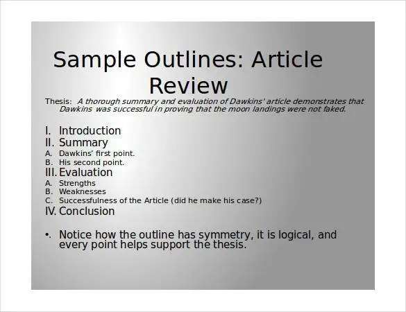 How to write a presentation outline sample College paper Help