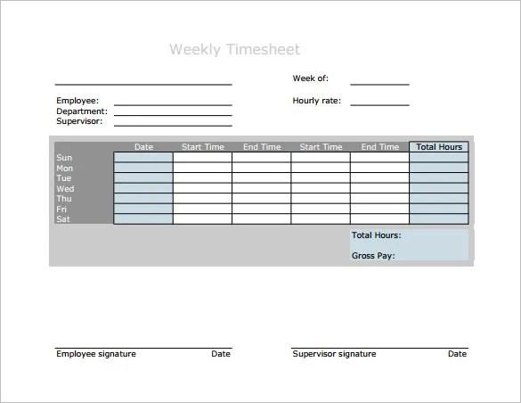 7+ Weekly Paycheck Calculator \u2013 Free Word, Excel, PDF format