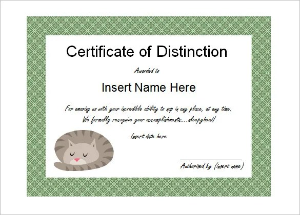 10+ Funny Certificate Templates \u2013 Free Word, PDF Documents Download - Award Maker