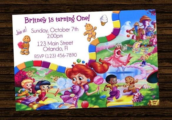 14+ Wonderful Candyland Invitation Templates Free  Premium Templates - free e party invites
