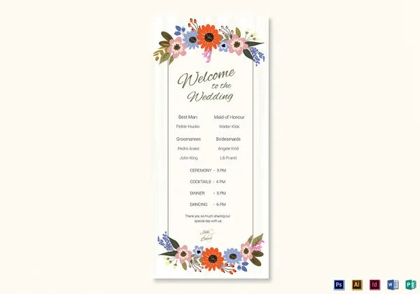 26+ Wedding Ceremony Program Templates - PSD, AI, InDesign, PDF, DOC