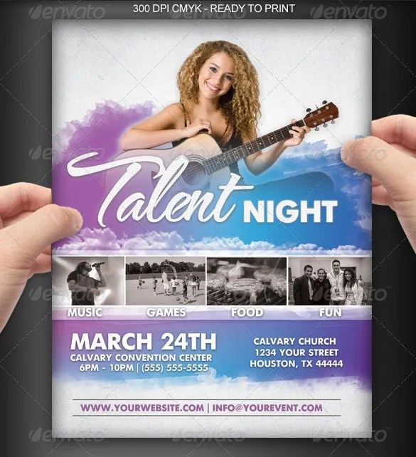 18+ Amazing Talent Show Flyer Templates PSD! Free  Premium Templates - talent show flyer
