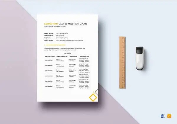 Free Meeting Minutes Templates \u2013 17+ Free Sample, Example Format