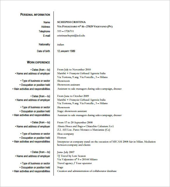 fashion student resume - Kenicandlecomfortzone