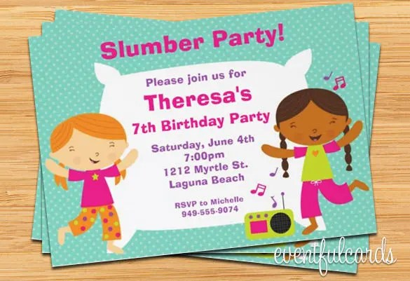 13+ Creative Slumber Party Invitation Templates  Designs! Free