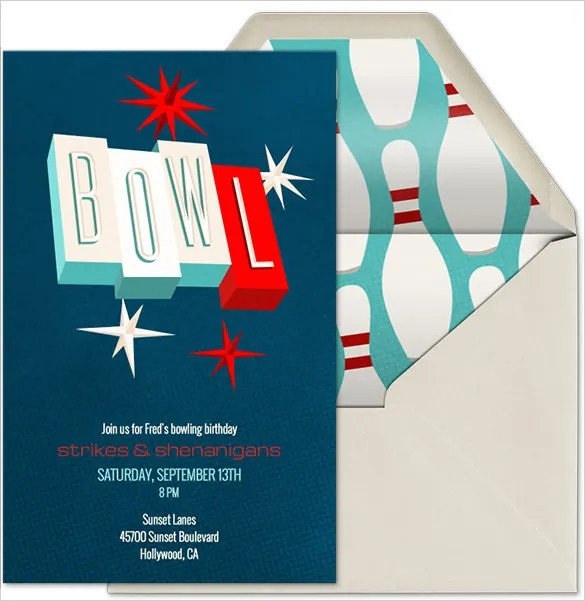 25+ Outstanding Bowling Invitation Templates  Designs! Free - bowling invitation
