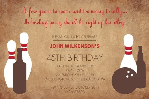 24+ Outstanding Bowling Invitation Templates  Designs! - PSD, AI