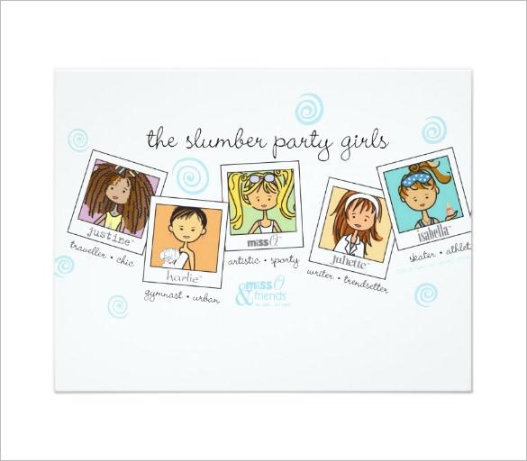 13+ Creative Slumber Party Invitation Templates  Designs! Free