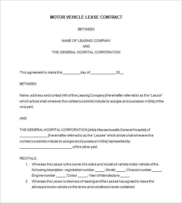 Horse Lease Agreements » Lease Purchase Agreement | Download Free