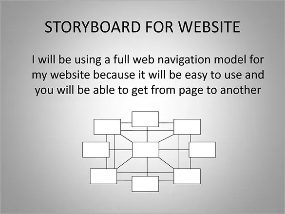 Web Page Storyboard Template Image Collections Template Design