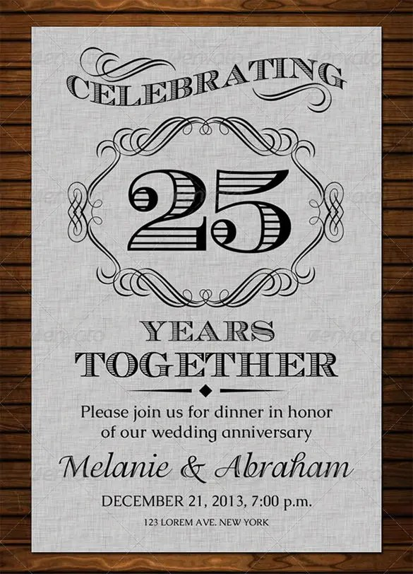 Anniversary Card Templates \u2013 12+ Free Printable Word, PDF, PSD, EPS