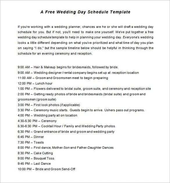 bridal party timeline template - Goalgoodwinmetals - wedding event timeline template