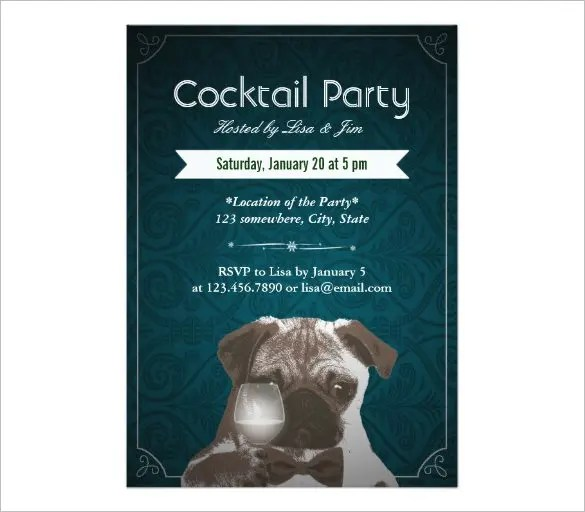 21+ Stunning Cocktail Party Invitation Templates  Designs! - Word
