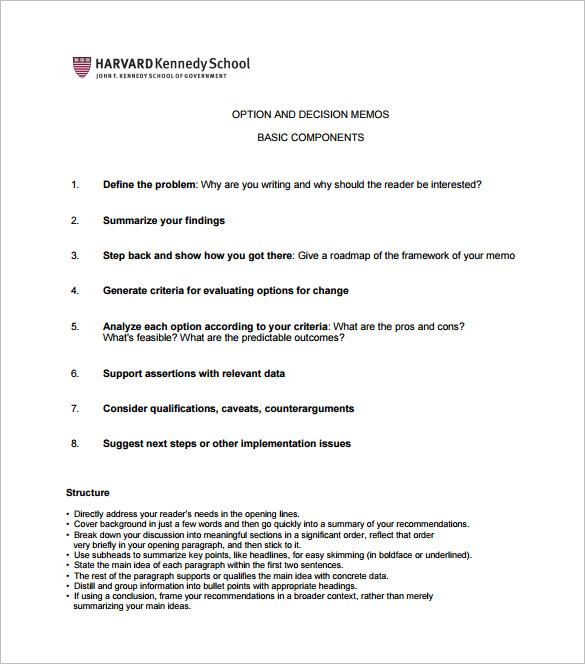 8+ Decision Memo Templates \u2013 Free Word, PDF Documents Download