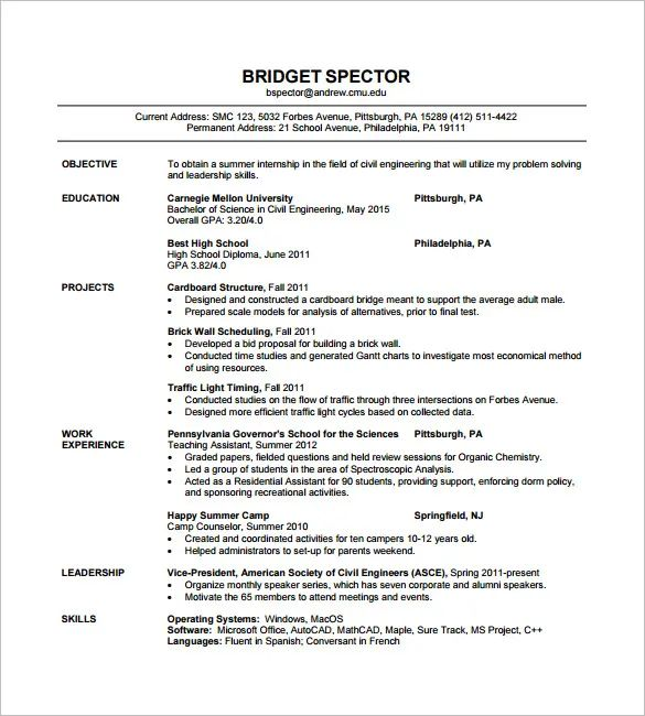 career objective examples for engineering resume