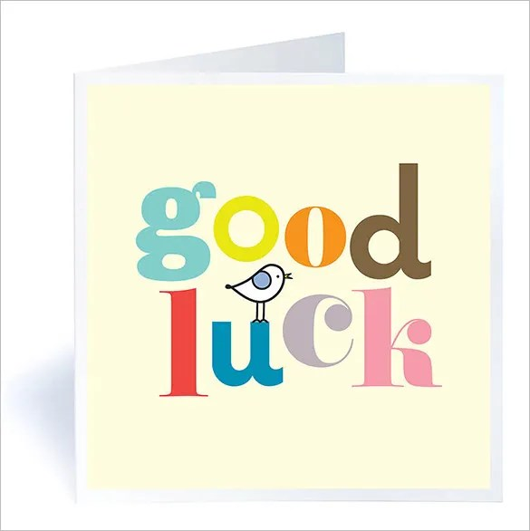 7+ Good Luck Card Templates - PSD, EPS Free  Premium Templates