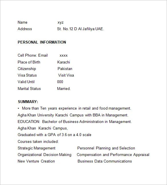 Cashier Resume Template \u2013 16+ Free Samples, Examples, Format - resume for cashier
