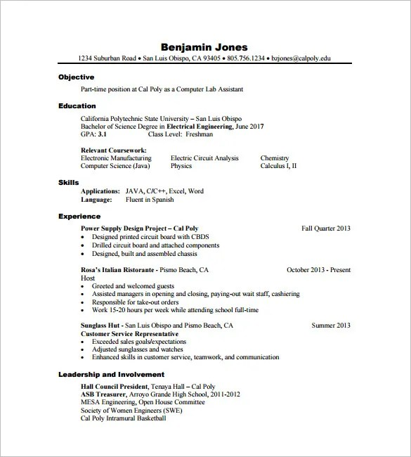 16+ Civil Engineer Resume Templates - PDF, DOC Free  Premium - civil engineer sample resume