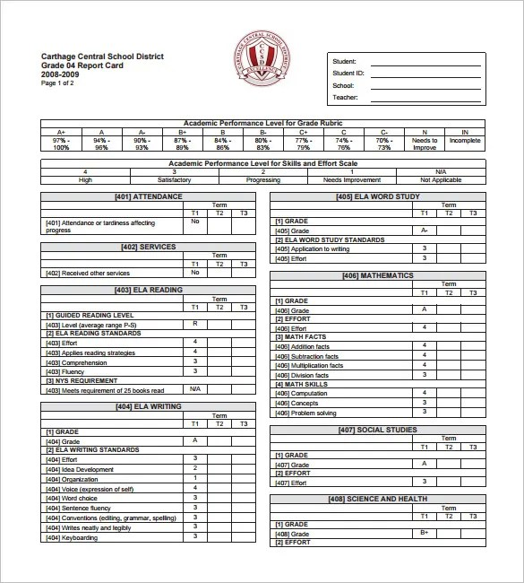 26+ Progress Report Card Templates - Google DOC, PDF, PSD, EPS, Word