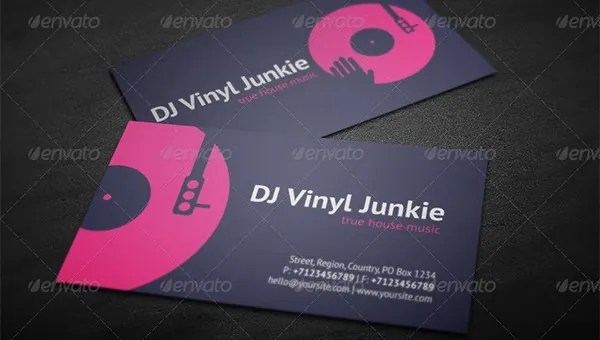 28+ DJ Business Cards Templates - Photoshop, Ms Word, Publisher