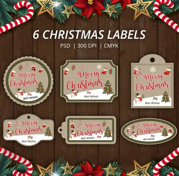 180+ Christmas Label Templates - Free PSD, EPS, AI, Vector Format - abel templates psd