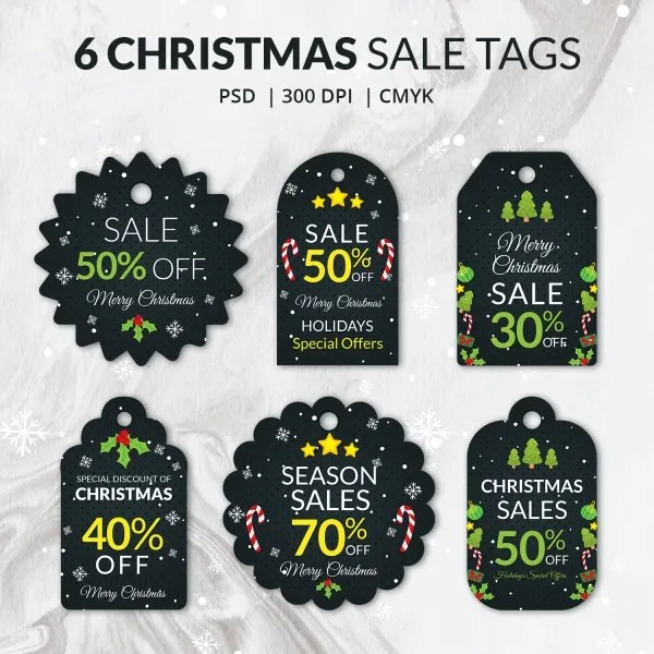 180+ Christmas Label Templates - Free PSD, EPS, AI, Vector Format - sale tag template