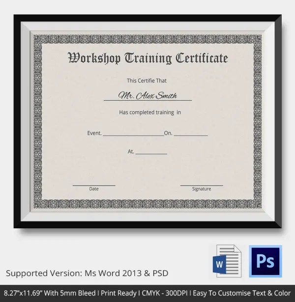 Business Certificate Templates Training Certificate Template - business certificates templates