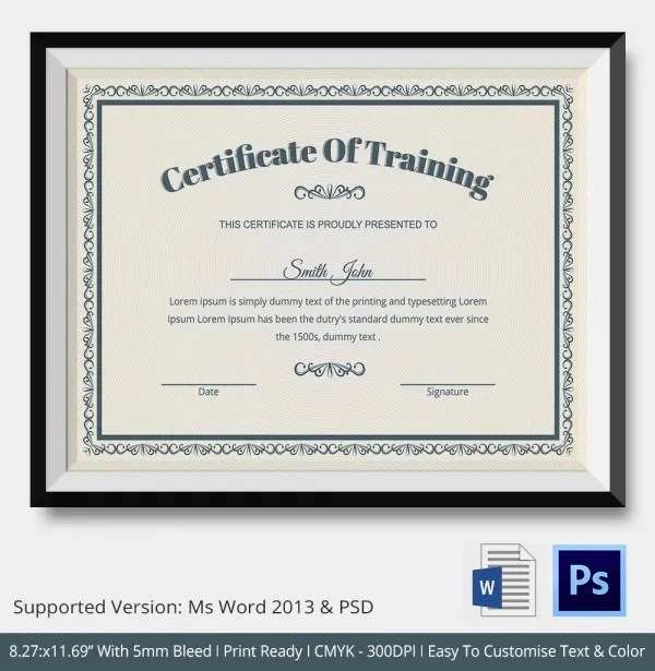 Top Result 54 Fresh Certificate Of Training Template Free Picture - certificate maker online free