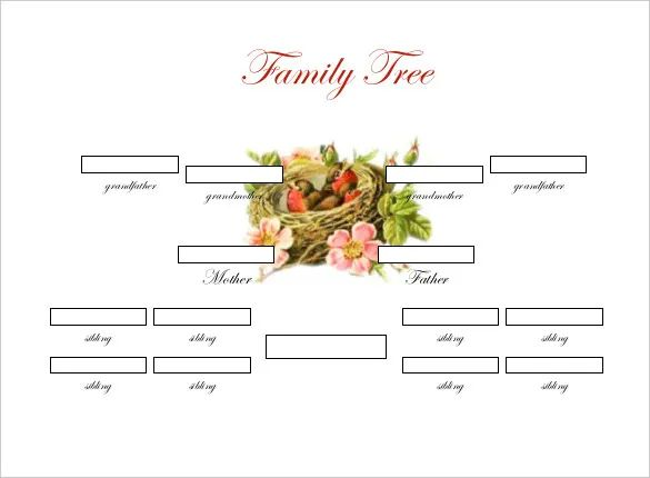 family tree template microsoft